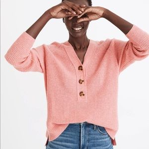 Madewell Lyle Henley Wool Sweater